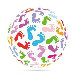 Feet globe